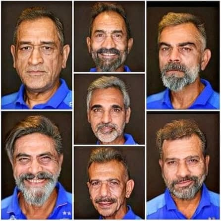 faceapp indian cricketer